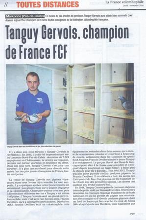 La France Colombophile du 5 novembre ...
