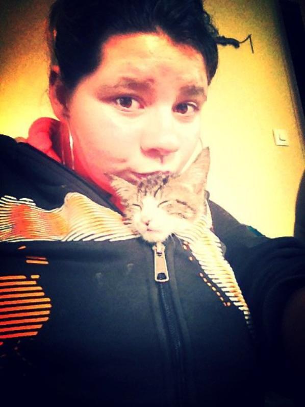 Moi et Mon Pti chat