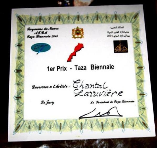 1er prix à la biennale de Taza au maroc