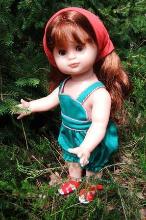 Emilie au jardin!