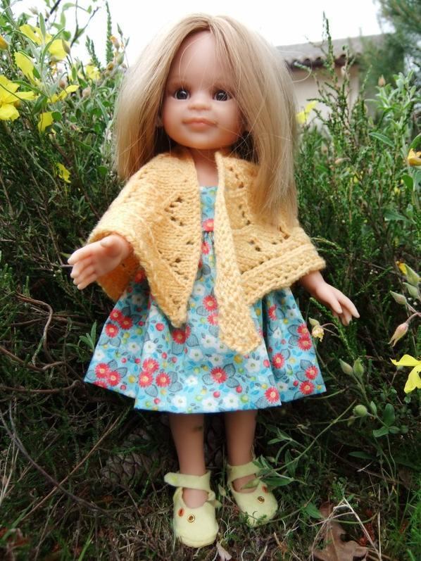 Paula dans le jardin!