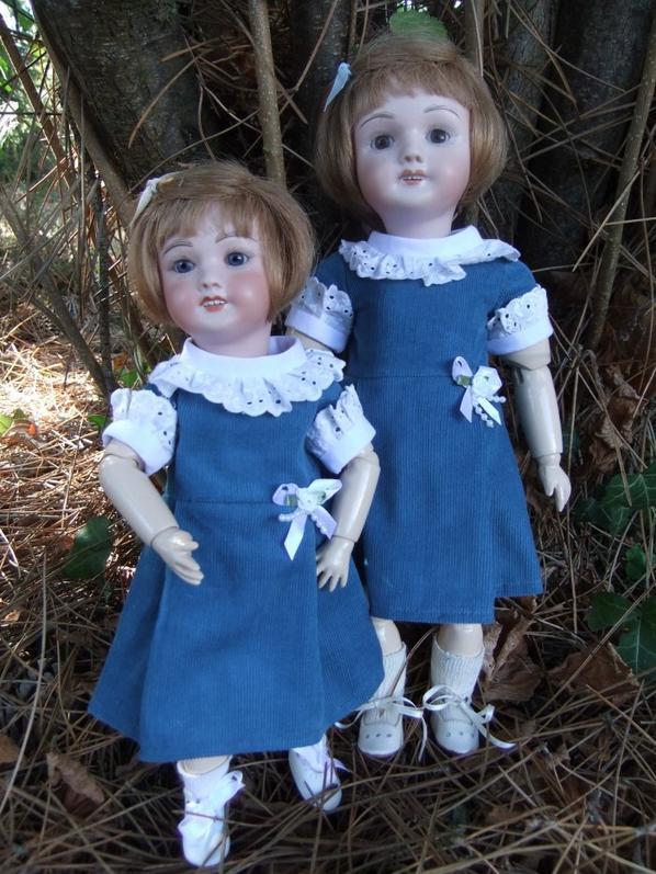 Bleuette et Rosette: comme des soeurs jumelles!