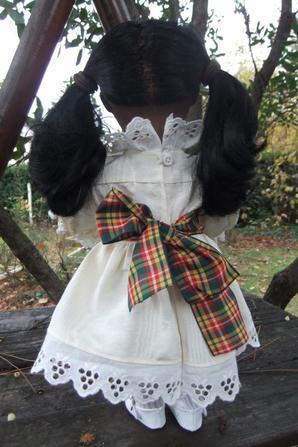Décembre 1988: robe en moire pour Emilie!
