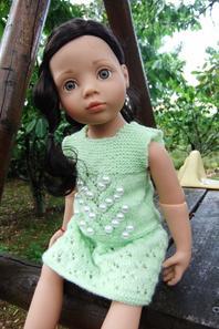 """Luisa et sa robe """"Porte-bonheur""""!"""