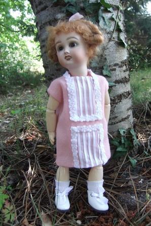 Bleuette et sa nouvelle robe!
