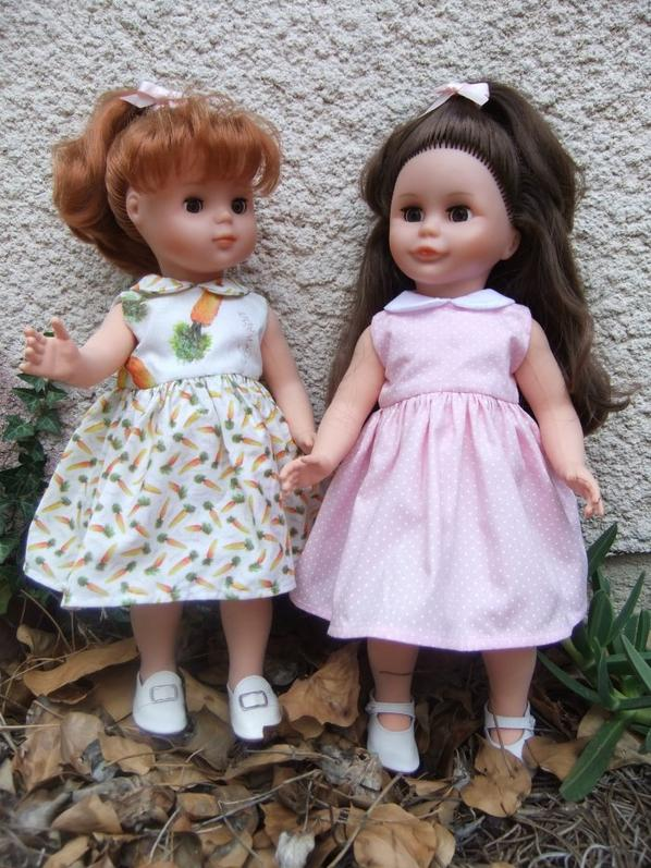 Robe col claudine et gilet assorti pour Louise et Elisabeth!