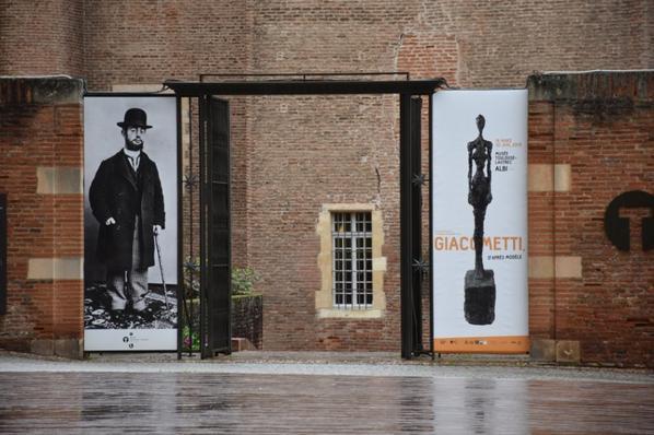 Albi... Exposition Giacometti au Musée Toulouse-Lautrec