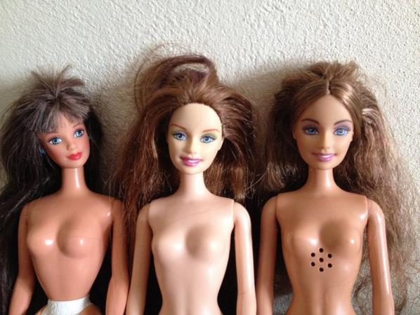 Lot Barbie nude