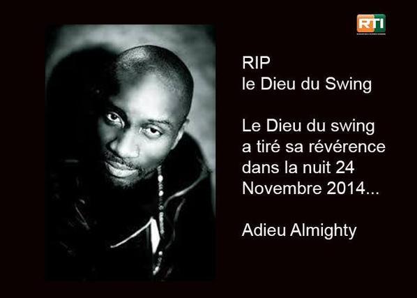 Le célèbre rappeur Ivoirien Almighty est décédés.
