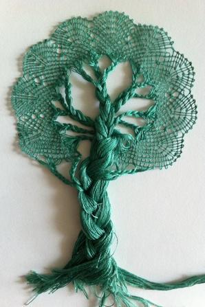 NOUVELLE LECON , à vos fuseaux Mesdames ! si cela vous tente de comprendre la technique pour réaliser ce bel arbre : 28 fuseaux à apporter au prochain cours.