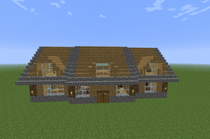 Articles de construction minecraft tagg s maison minecraft blog - Maison en bois minecraft ...