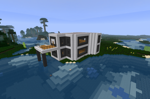 Maison de luxe blog de construction minecraft for Minecraft maison moderne avec xroach