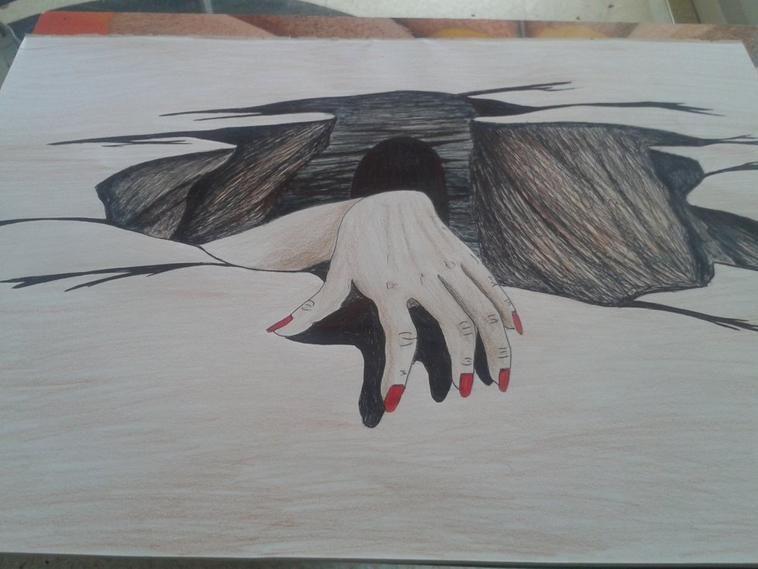 trompe l'oeil , dessin stylo crayon !! by tatatron