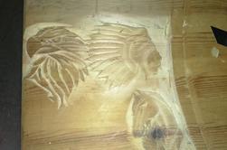 bientôt sculpture 1m20 / 70 cm !! sculpté au cutter !!