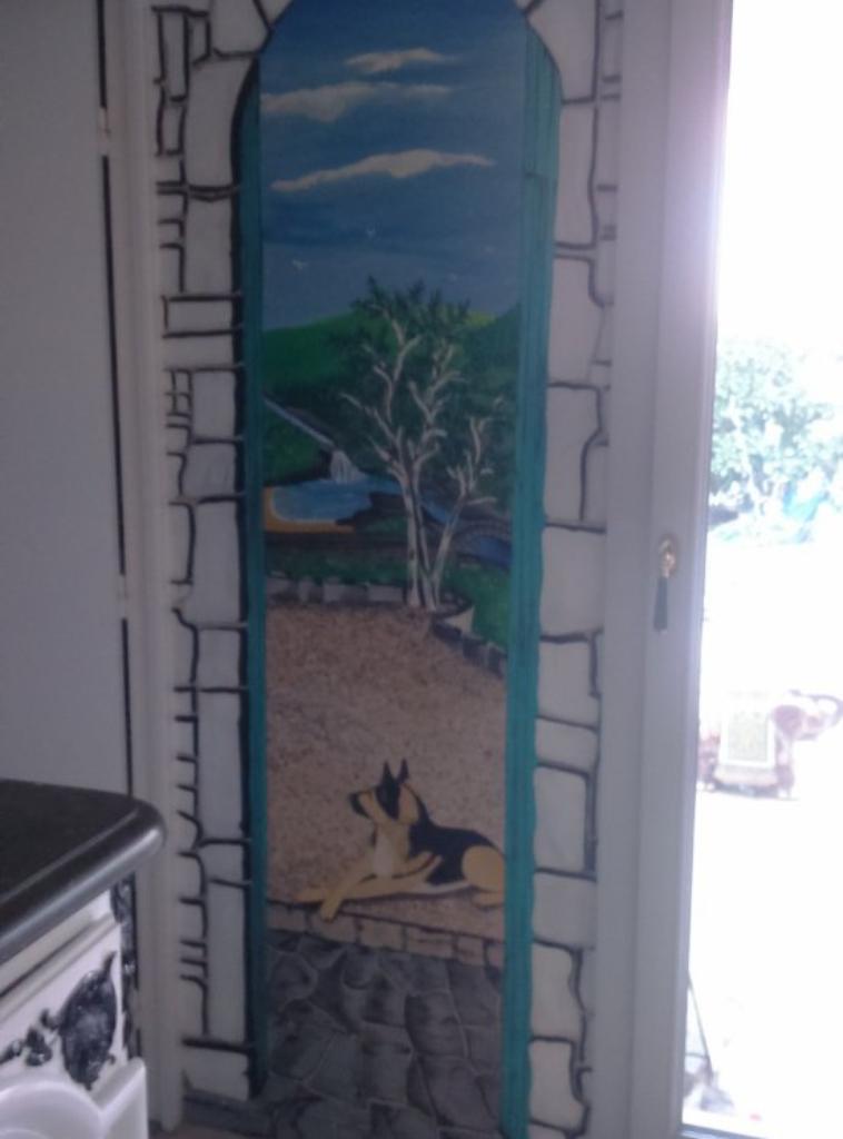 Création originale fresque sur mur 1m/2m30 By Tatatron linda !!