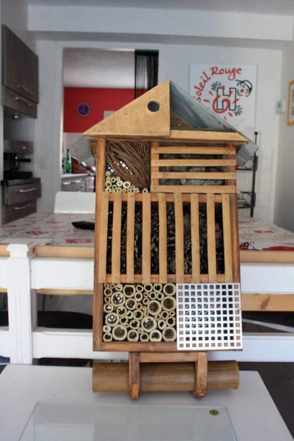 Hotel pour les insectes de mon jardin