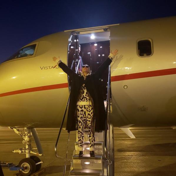 L'arrivée de Céline à Paris ce soir - 21 01 2019 .
