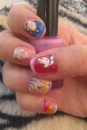 Nail art fairy tail ! + Gif !