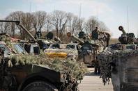 1er Régiment Etranger de Cavalerie en exercice terrain libre