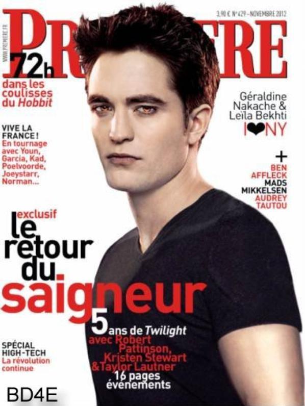 Rob et Twilight en couverture du Mag Première