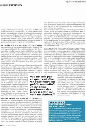 #DiorRob interview de Rob dans le Elle Magasine FR .