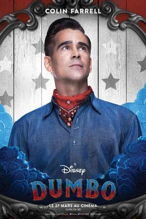 Dumbo de Walt Disney et réaslisé par Tim Burton le 27 mars au cinéma.