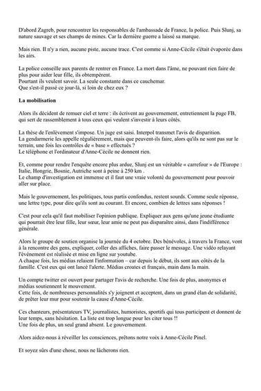 Disparition Anne-Cécile Pinel (Partager un max svp)