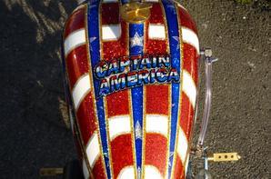HARLEY DAVIDSON 1340 SHOVEL CAPTAIN AMERICA TRIBUTE