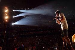 Liam sur scène à Houston le 22/08/14