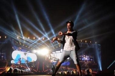 Liam sur scène à Houston le 22/08/14 (2)