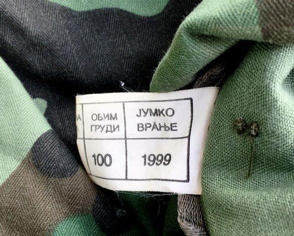 Veste de Combat Armée Serbe 1999