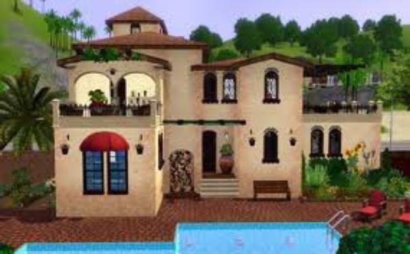 maison a cr e sur sims 3 blog de lovabella8. Black Bedroom Furniture Sets. Home Design Ideas