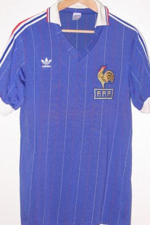 France 1982 maillots de football vintage des ann es 1970 - Equipe de france 1982 coupe du monde ...