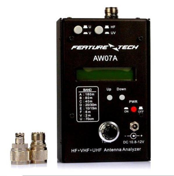 AW07A HF / VHF / UHF 160M Impédance SWR Analyseur d'antenne pr Radio-amateurs