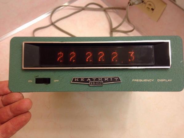Heathkit SB-650 Affichage de la fréquence Compteur 4 HAM RADIO..fréquence Vintage Heathkit SB-650.