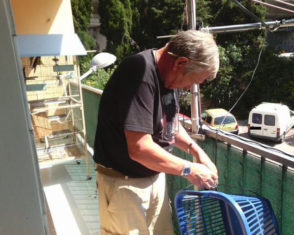 aujourd'hui 14v173 Yann et venu me voir ami radio pour test antenne filaire 3  Bande  comme j'ai un balcon qui fait plus 8 mètre