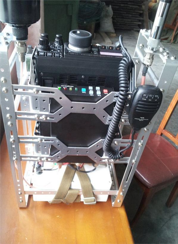 Entièrement métallique porteuse Radio Antenne Tuner pour YAESU IC-7200 FT-450 FT-897 IC-725