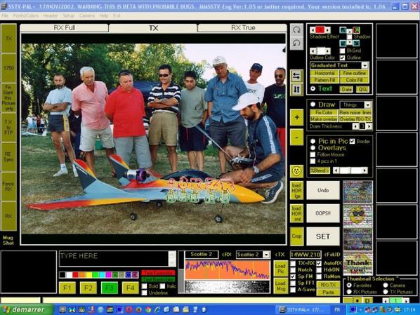 pour les Amateur de SSTV vois ci Big- SSTV  Trais bon logicielle SSTV  on ne trouve plus il ceux rare logicielle des année 1998