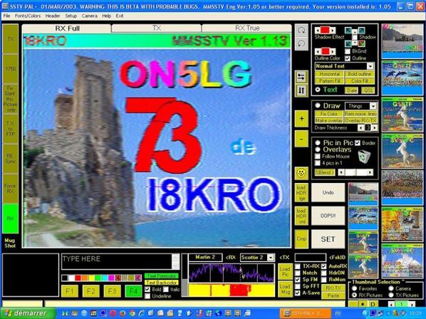 RX Band 20m14.230.00 de F-11874 NICE ViLLe FRANCE BigSSTV-Pal
