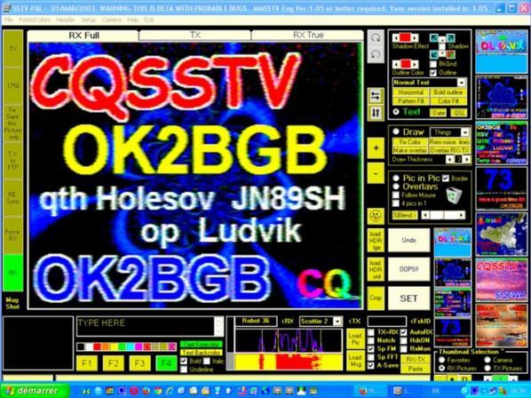 images du jour.. 03/10/2014.. SSTV RX DE F-11874 OP.PATRICK NICE VILLE FRANCE Band 20M USB 14.230.00