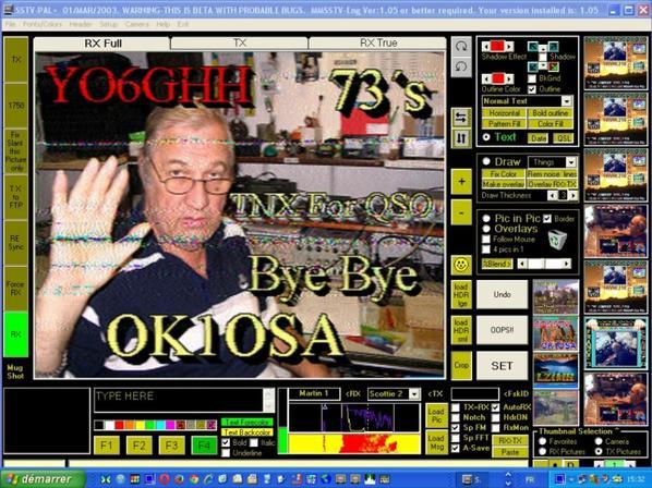 images du jour.. 05/10/2014.. SSTV RX DE F-11874 OP.PATRICK NICE VILLE FRANCE Band 20M USB 14.230.00 13:h00