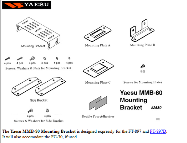 Yaesu MMB-80 : support mobile