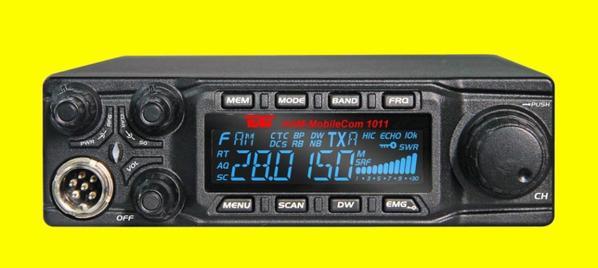L'équipe Ham MobileCom 1011 10m (11) m appareil mobile dans un boîtier compact......quelle magnifique petit  transceiver a voir pour DX en voiture