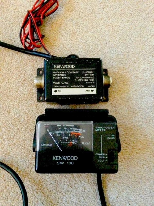 Kenwood SW 100, swr meter, jauge de puissance mètre de tension, trio, 150watt