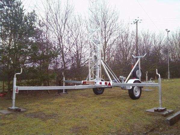 mât jusqu' à 30 mètres, wind up manivelle tour portable tractable