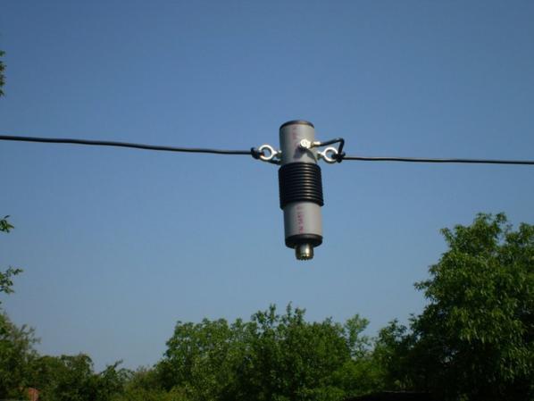 Fil dipôle 11m CB 27MHz avec isolateurs