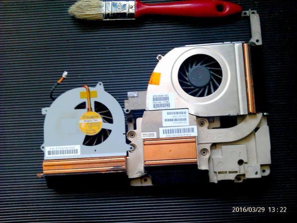 ma commande est arrivé pour mon HP Compaq Presario R4000   dissipateur de chaleur et ventilateurs a lorigine il ni a q'un la il y a  deux prix Environ 6,38 EUR +  le port