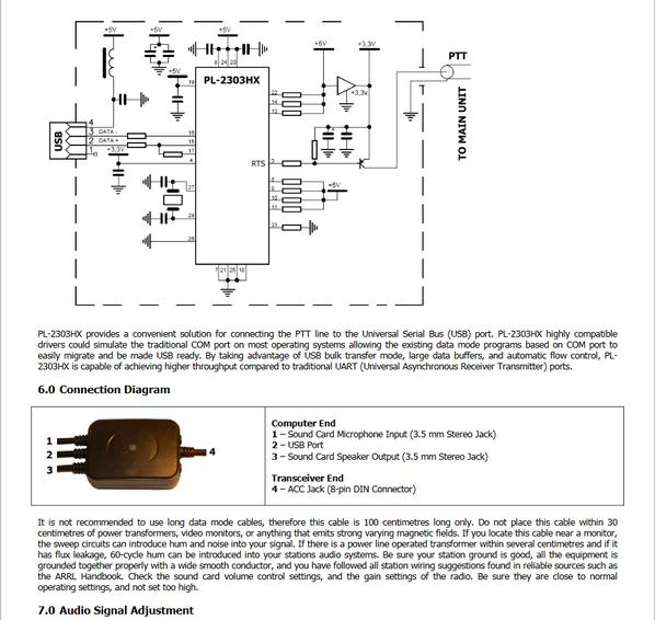 Mode de Icom Câble de données pour transceivers