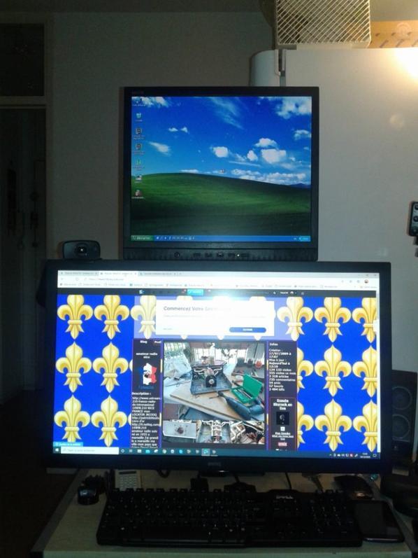 nouvel installation des mai écran d'ordinateur