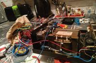 remise en état d'un amplis a lampe par 14v173 yann de NICE...avec thermostat pour le ventilateur 12v